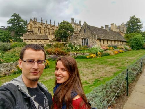 Parte de nuestros 4 años locos, nuestras aventuras en Reino Unido. Foto en Christ Church College de Oxford, en Inglaterra